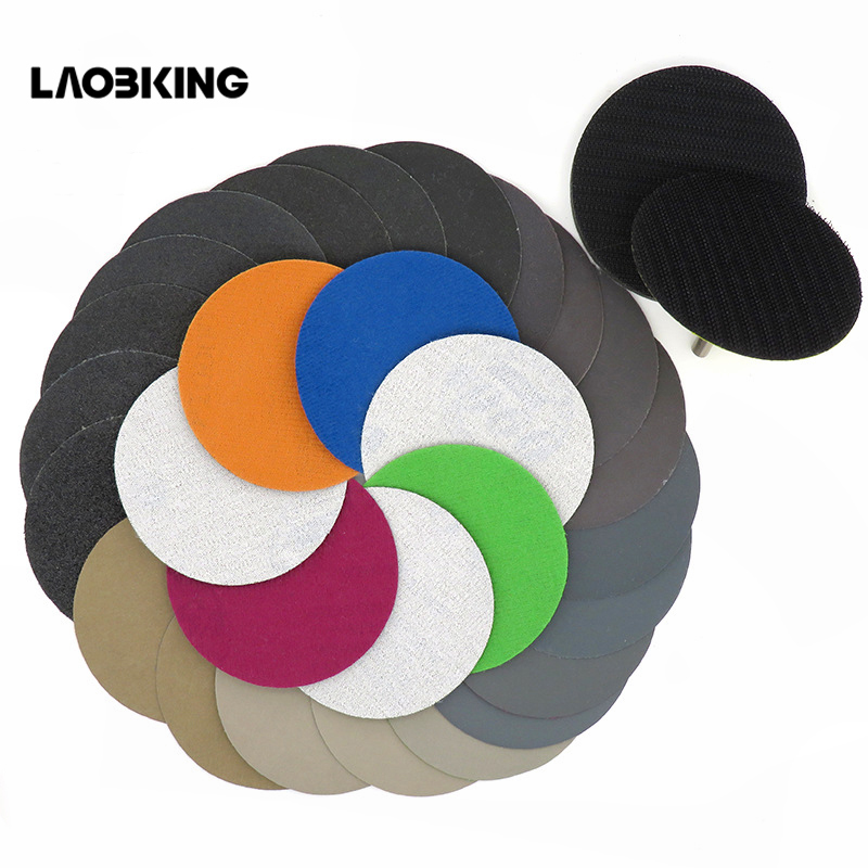 5PC 996A3 Inch Disc Water Sand 75mm Back Flocking Sand Paper Dry-wet Dual-purpose Jadeite Polishing Automobile Polishing