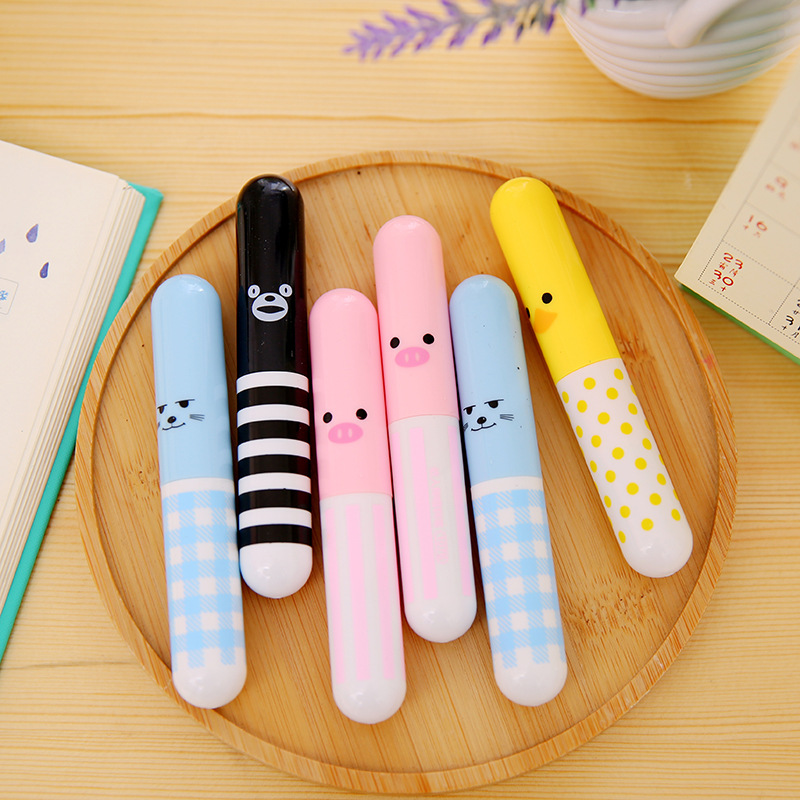 1-Piece Cute Cartoon Pill Fountain Pen 0.5mm Retractable Pocket Pens For Student School Office Supplies Writing Stationery