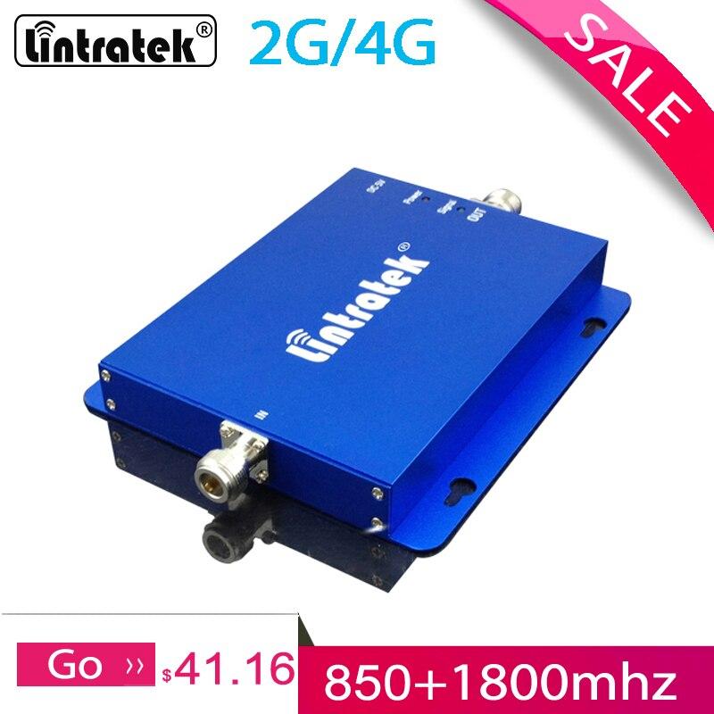 Lintratek CDMA 850 1800mhz wzmacniacz sygnału 2G 4G zespół 3 dwuzakresowy wzmacniacz sygnału GSM wzmacniacz sygnału do telefonu dla domu #58Wzmacniacze sygnału   -