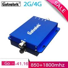 Lintratek cdma 850 1800mhz amplificador de reforço de sinal 2g 4g banda 3 banda dupla gsm repetidor sinal reforço do telefone móvel para casa #58
