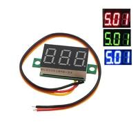 Uds 0,36 de dos DC 2,50 a 30V LCD Digital del voltímetro del Voltimetro rojo/azul/Verde LED Amp medidor de voltímetro medidor de voltaje