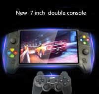 Coolbaby HD 7 pulgadas Retro consola de juegos portátil muchos emuladores 48G 3000 juegos Doble joystick para GBA NES consola de juegos Retro