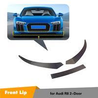 For Audi R8 2016 2017 2018 Car Racing Carbon Fiber Front Bumper Lip Spoiler body kits