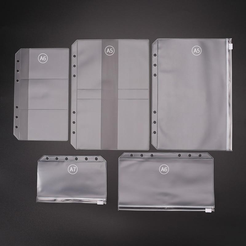 Сумка из ПВХ для ноутбука A4 A5 A6 A7, сумка для хранения в форме листа, аксессуар для дневника, сумка на молнии, чехол для карт