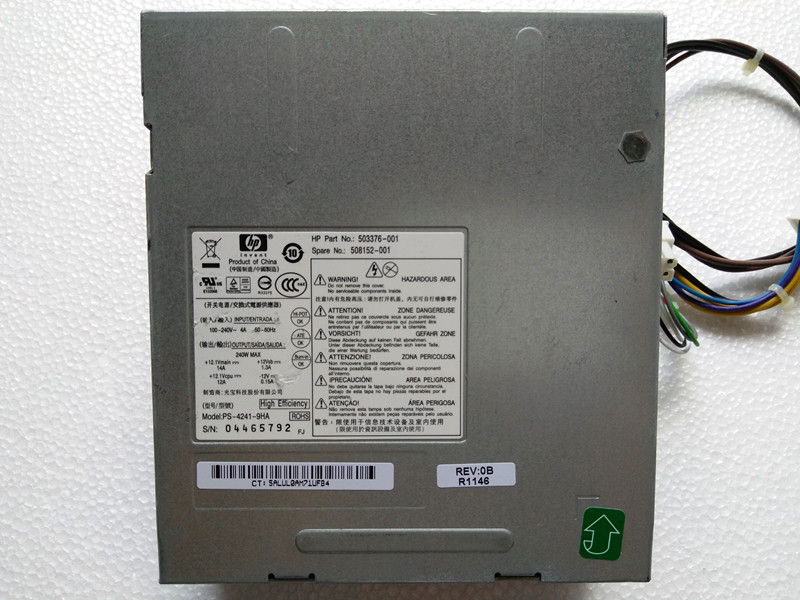 New Original 240W Power Supply For Pro 6000, 6005 6200 & Elite 8000, 8100, 8200 SFF 503376-001 508152-001 Well Tested