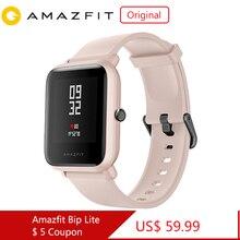 Originele Amazfit Bip Lite Smart Horloge 45 Dag Batterij Leven 3ATM Water weerstand Activiteit Gezonde Tracking Apps Meldingen