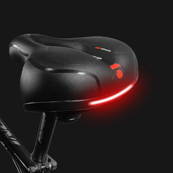 Siodło rowerowe z tylnym światłem zagęścić Widen MTB siodełka rowerowe miękkie wygodne rowerowe wydrążone rowerowe siodełko rowerowe tanie i dobre opinie Rowery drogowe Sztuczna skóra Bicycle saddle 25x20CM Przednim siedzeniu maty Bike Saddle Mountain MTB Cushion Pad Seat Soft