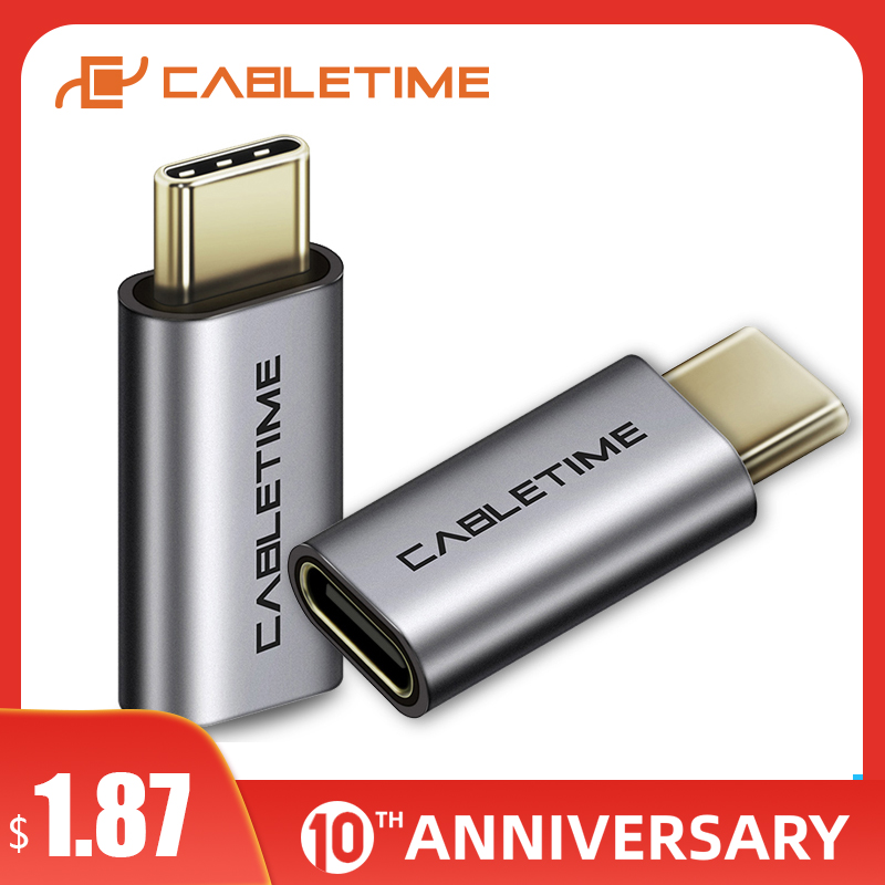 CABLETIME NEW USB OTG Type-C Adapter To 3.0 USB C OTG Thunderbolt 3 USB Type C Cable For Macbook Pro Huawei Mate 30/20 P30 C013