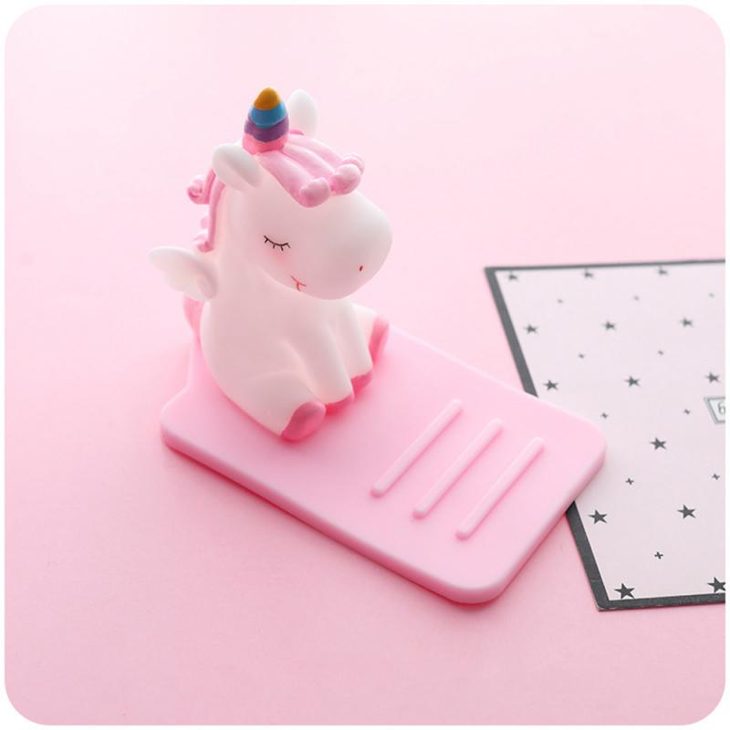 Lazy Cartoon Mobile Phone Holder Mini Portable Fixed Supplies Stent Unicorn Stand Storage Phone Holder For Huawei Xiaomi