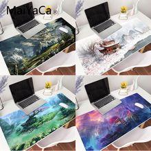 MaiYaCa 80x30cm Fantasy Landscape Mousepad Gaming Mouse Pad xxl Large Deak Mat for overwatch/cs go/world of warcraft