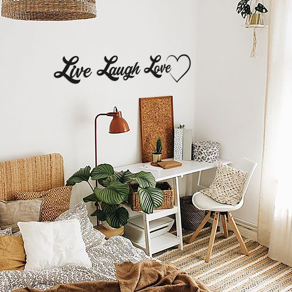Metal Wall Decor And Art Live Laugh Love Interior Design Writings Words Wall Decor Metal Phrase Plaques Signs Aliexpress