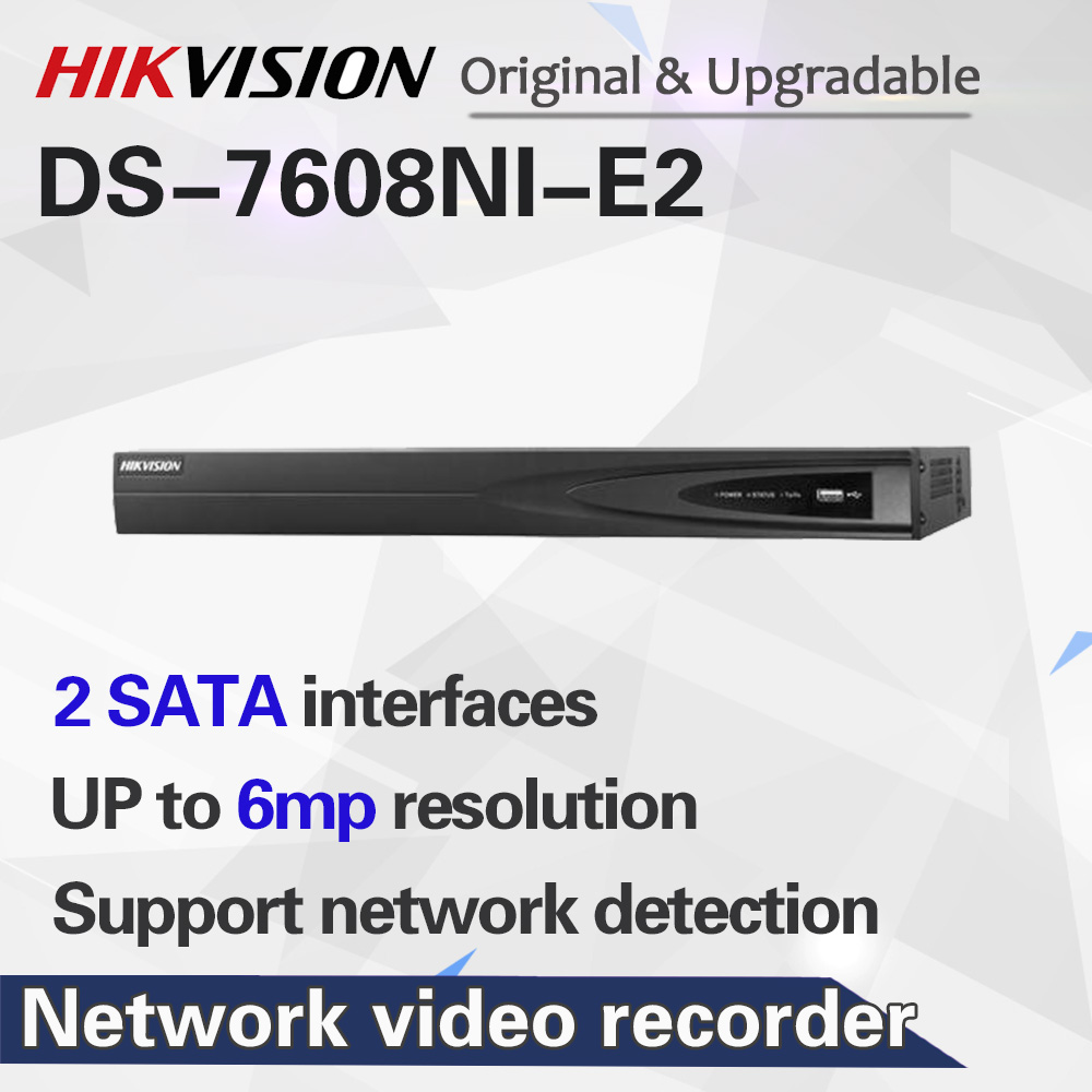 В наличии HIKVISION NVR 8CH DS-7608NI-E2 до 6 мегапикселей Запись сетевой видеорегистратор 8CH nvr без POE порта