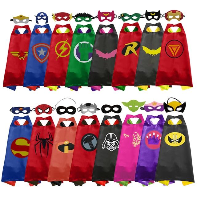 Christmas Halloween Superhero Cartoon Costume Hero Game Costumes Cape With Masks For Kids Birthday Cosplay Free Shipping