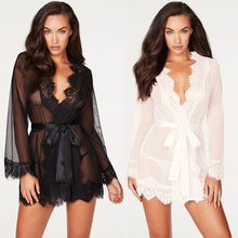 Sexy Lingerie Hot Women Porno Sleepwear Lace Underwear Sex Clothes Babydoll Erotic Transparent Dress Black Sexy Lingerie