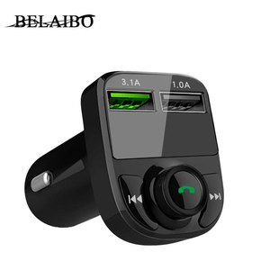 Car Mp3 Player Bluetooth 5.0 Fm Transmitter Modulator With App 3.1a Dual Usb Car Kit Music Playe Charger