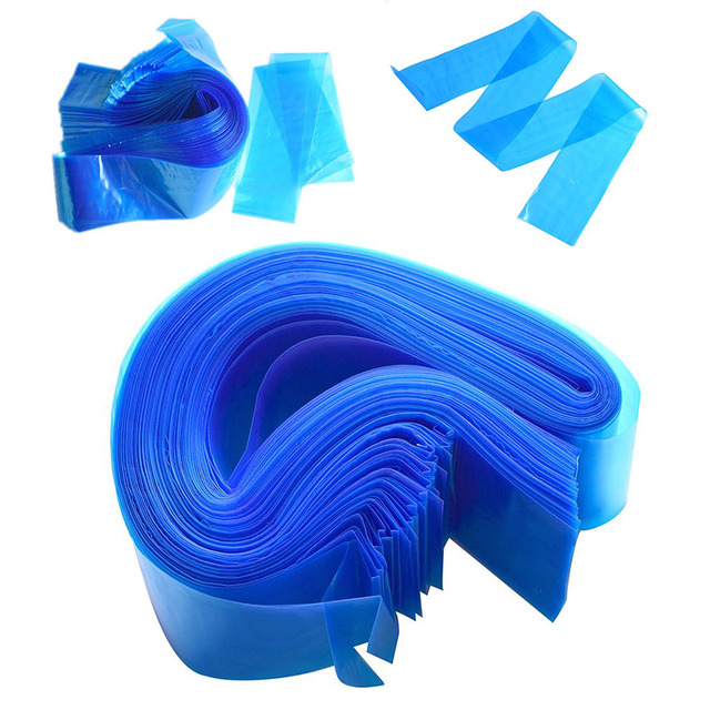 100pcs Medical Blue Plastic Tattoo Machine Clip Cord Sleeves Covers Bags 3