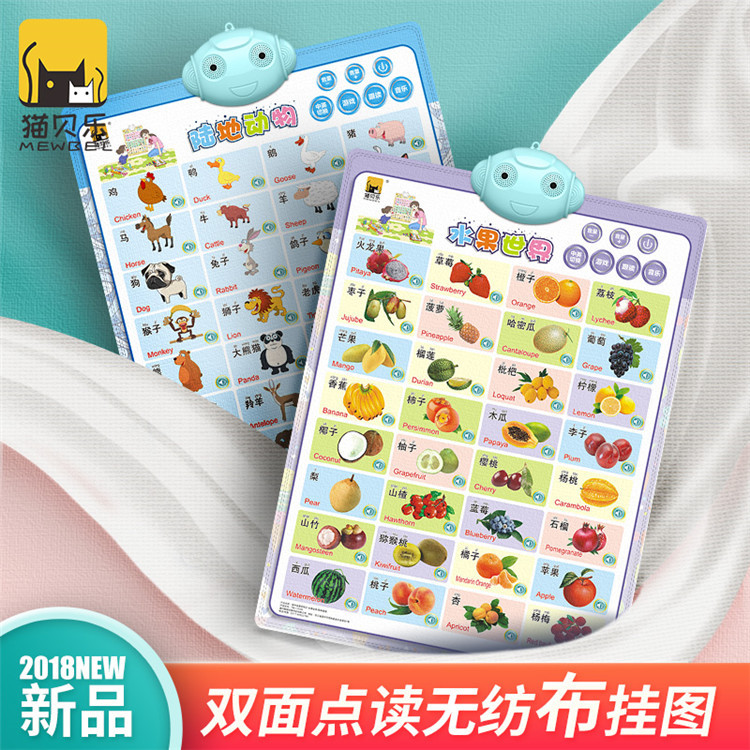 Pinyin Audio Chart Early Education Sound Making Children ENLIGHTEN Baby Reading With Pictures Full Set Wall Stickers Read 0-3-Ye