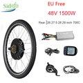 Kit Bici elettrica 1500w 48V ebike Kit di Conversione Ruota Posteriore Display LCD KT Regolatore Elettrico Della Bici Brushless Gear motore del mozzo 26
