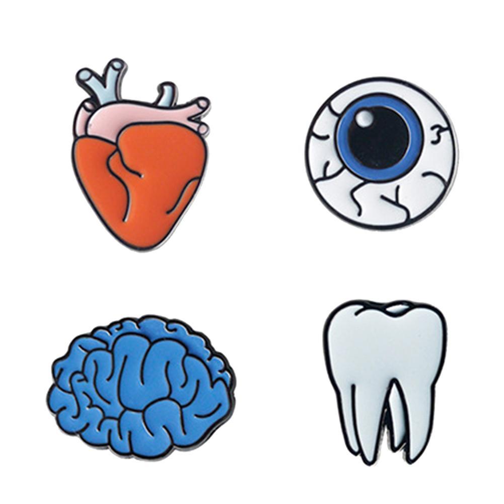 Милый Уникальный зуб головной убор в форме сердца эмалированная брошь куртка воротник и сумка подарок 2019