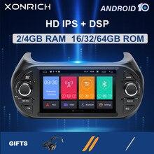 Ips dsp 4gb 64 1 din android 10 leitor de dvd do carro para fiat fiorino qubo citroen nemo peugeot bipper multimídia rádio gps estéreo
