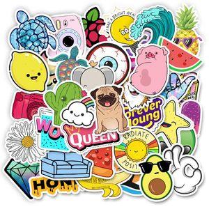 Image 3 - 20 스타일 Vsco 스티커 것들 50PCS 팩 쿨 핑크 소녀 스티커에 대 한 노트북 냉장고 전화 스케이트 보드 가방 스티커