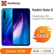 Globalny rom Xiaomi Redmi Note 8 6GB 128GB Smartphone Snapdragon 665 octa core 48MP tylny Quad Camera 6 3 FHD + ekran 4000mAh tanie tanio Nie odpinany Inne Szybkie ładowanie 3 0 Rozpoznawania linii papilarnych Nowy Android 2 karty SIM 2340x1080 pikseli Typu C