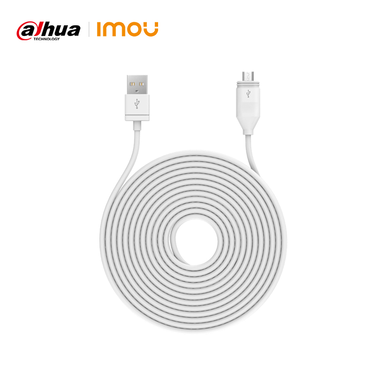 Dahua Imou 2A 3M Micro USB Waterproof Charging Cable For Imou IP WiFi Security Camera Cell Pro Accessories