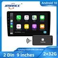 JMANCE 9 дюймов Carplay Android Авто DSP RDS Android 10 мультимедийных Hi-Fi видео плеер GPS навигации автомобиля Радио стерео Wifi BT