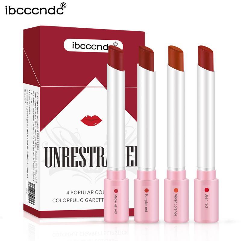 Ibcccndc 4 Colors Velvet Matte Long Lasting Waterproof Cigarette Lipstick Fog Surface Sexy Nude Lipstick maquillaje batom TSLM1|  - AliExpress