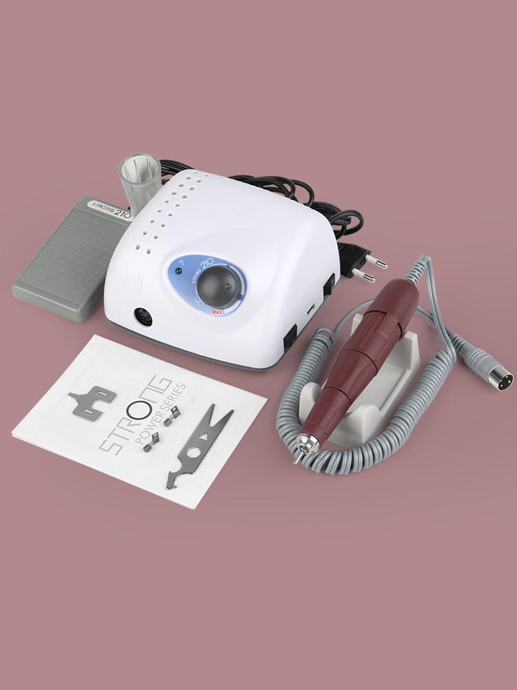 File-Bit Manicure-Machine-Set Nail-Art-Equipment Electric-Nail-Drill-Machine Strong 210