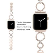 women Diamond band for Apple Watch strap 38mm 42mm iwatch band series 5 4 3 Replacement strap for apple watch band 6 44mm 40mm 2