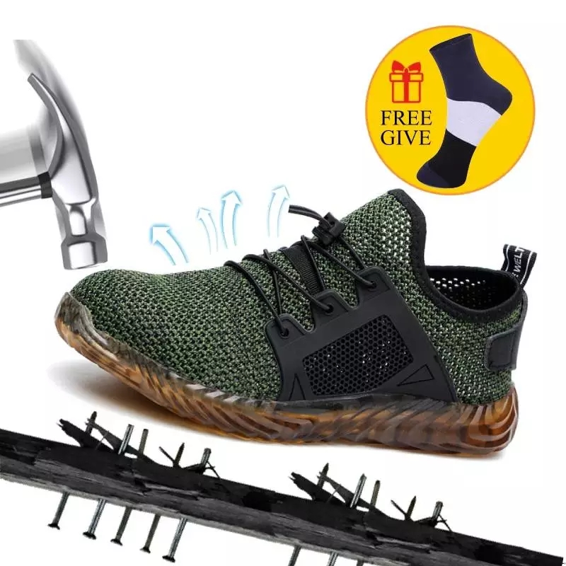 Dropshipping Indestructible Ryder Shoes Men And Women Steel Toe Air Safety Boots Puncture Proof Work Sneakers