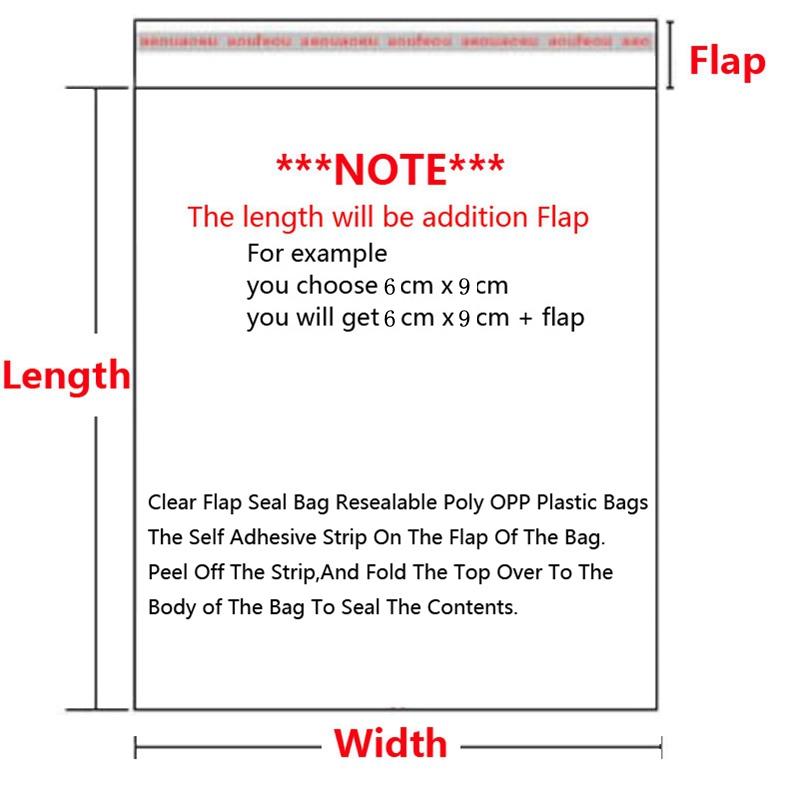 Transparent-Self-Sealing-Plastic-Bags-Gift-Jewelry-Packaging-Bag-Self-Adhesive-Resealable-Cellophane-Poly-OPP-Bag