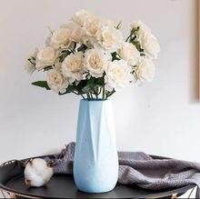 1 букет из 10 искусственных пионов, чайная роза, Камелия, шелковая ткань, украшение для дома и сада, свадьбы