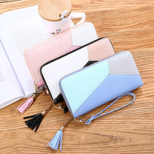 2020 new fashion ladies wallet long multi-function wallet coin purse fresh PU leather female clutch(China)