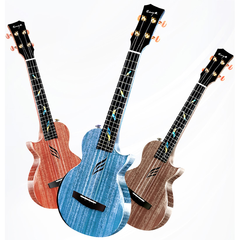Enya One-piece Mahogany Ukulele Concert Electric Ukulele Tenor Four String Guitar 23 26 With Pickups String Musical Instruments