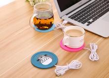 Creative Silicone Cartoon Usb Office Coffee Tea Milk Cup Warmer Pad Mat Usb Warm Coasters Free Shipping 100pcs lot Wholesale cheap CN(Origin) Eco-Friendly Modern ROUND Mats Pads