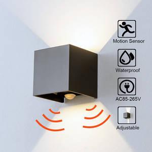 Wall-Sconce Cube Radar-Sensor Porch-Light Led-Wall-Lights Garden Outdoor Corridor-Lamp