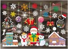 Обои рождественские витрину наклейки для стеклянных дверей украшения