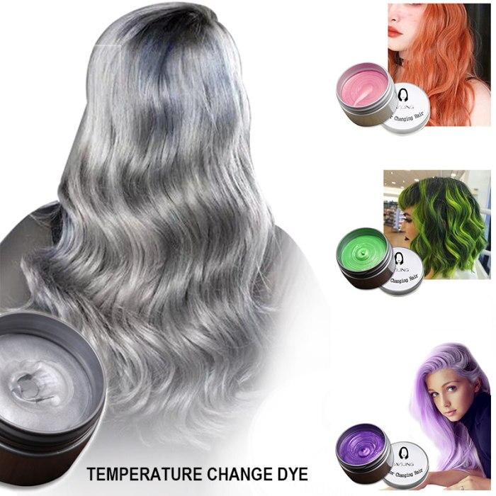 Tintura de cabelo cera cor estilo descartável