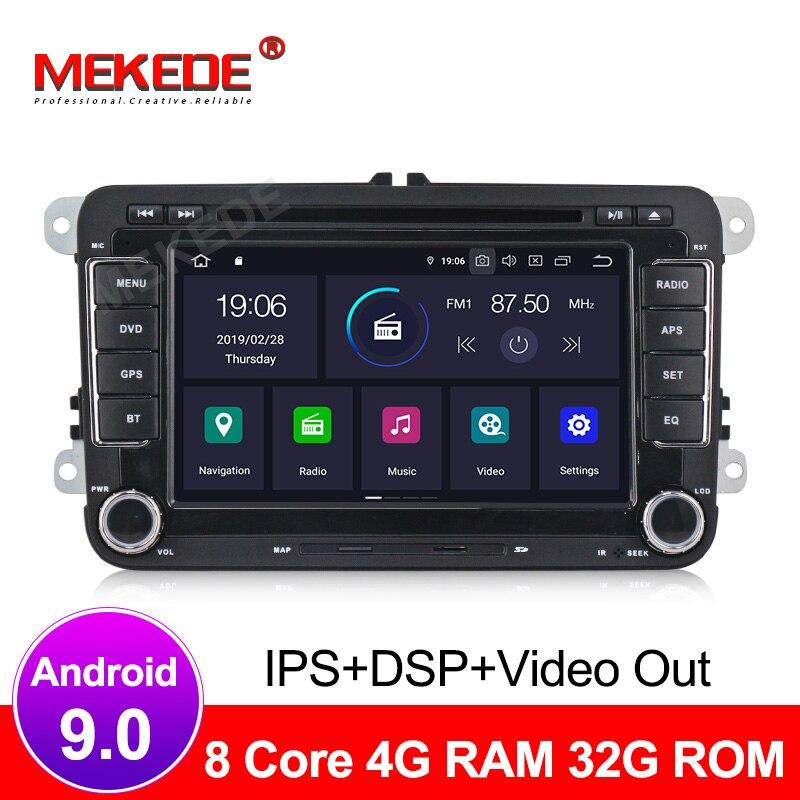 Android 9 0 IPS screen Two Din Car Multimedia Player Radio For Skoda Seat Volkswagen Passat