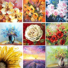 DIY Flower Diamond Painting 5D Full Square Embroidery Crystal Rhinestone Mosaic Picture of Diamonds Scenic Home Decor