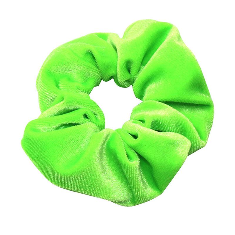 Neon Scrunchies Elastic Hair Ties Colorful Ponytail Holders Pink Green Orange Bright Hair Accessories