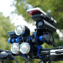 Deemount 20CM Bicycle Handlebar Extended Bracket Headlight Mount Bar Computer Holder Lamp Alloy Carbon Fiber Support Extender