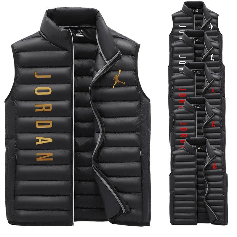 Бренд Jordan23 одежды жилетка мужская осенняя и зимняя новая теплая куртка без рукавов зимний Повседневный жилет мужской жилет M-3XL