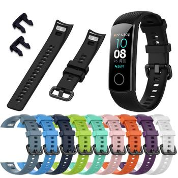 Silicone Wrist Strap For Huawei Honor Glory 5 Smart Sport Bracelet Strap For Huawei Honor Band 4 5 Smart Bracelet Accessories image
