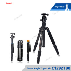 Tripod Carbon Fiber Tripods Flexible Monopod With B0 Ball Head Carrying Bag Max Loading 8kg C1292TB0 CD50 T03
