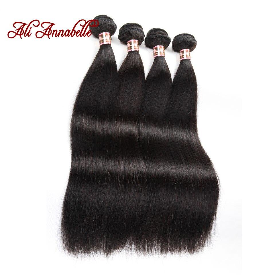 Али ANNABELLE прямые человеческие волосы пряди 30 28 26 дюймов 1 3 4 пряди предложения натуральный Цвет длинные перуанское мелирование волос пряди