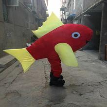 Костюм талисмана с красной рыбой на Хэллоуин; Меховые костюмы;