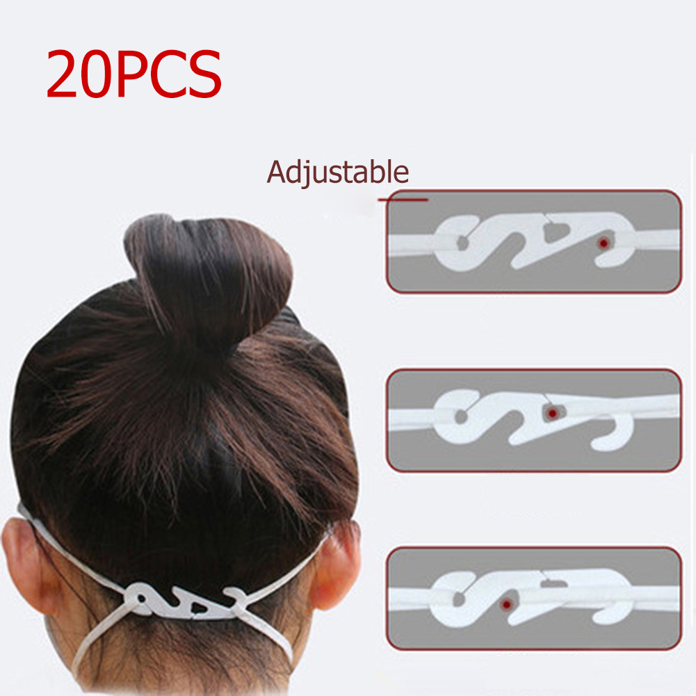 20Pcs/lot S Shaped Extended Adjustable Ear Protectors Anti-slip Mask Ear Grips Hook Extension Protector Buckle DIY Crafts